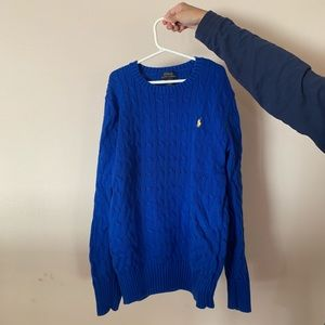 Polo Blue Cable-Knit Sweater